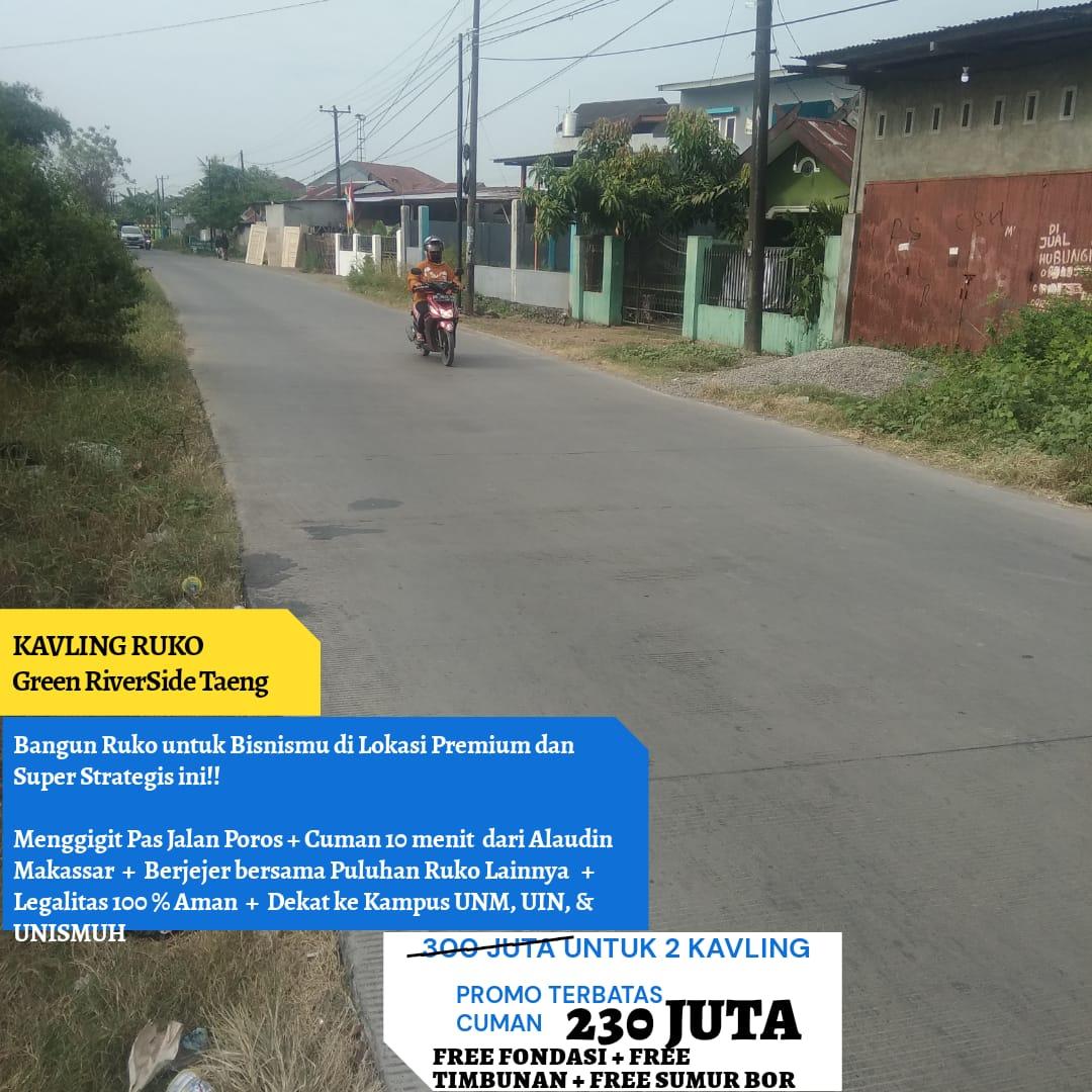 Jual Kavling Ruko di Jalan Poros  Taeng Gowa