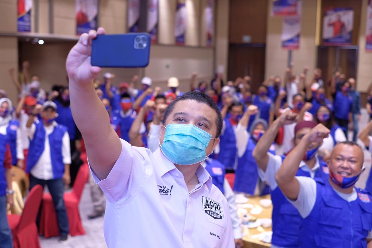 Erwin Aksa Mohon Maaf Jika Rombongan Appi-Rahman Macetkan Lalu Lintas