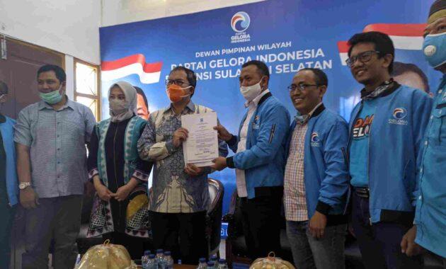Partai Gelora telah mengeluarkan surat dukungan kepada dua daerah