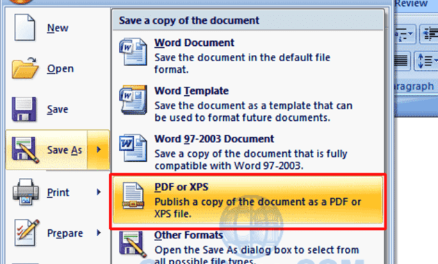 free download save as pdf microsoft office 2007