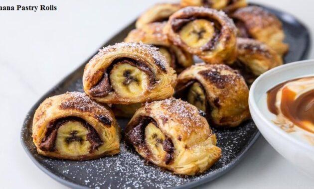 Banana Bread Recipe Nutella and Banana Pastry Rolls