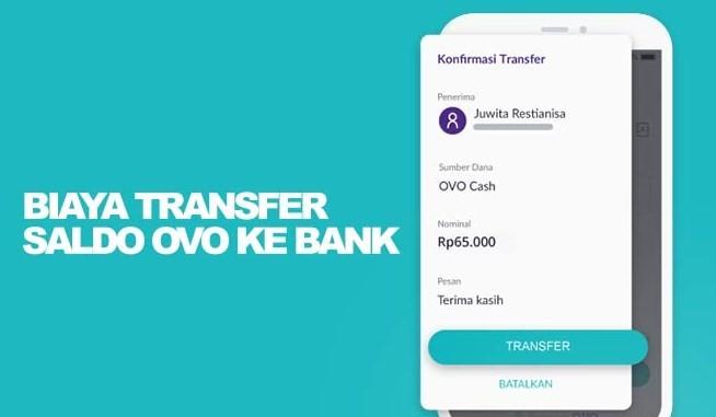 Biaya transfer dari ovo ke bank