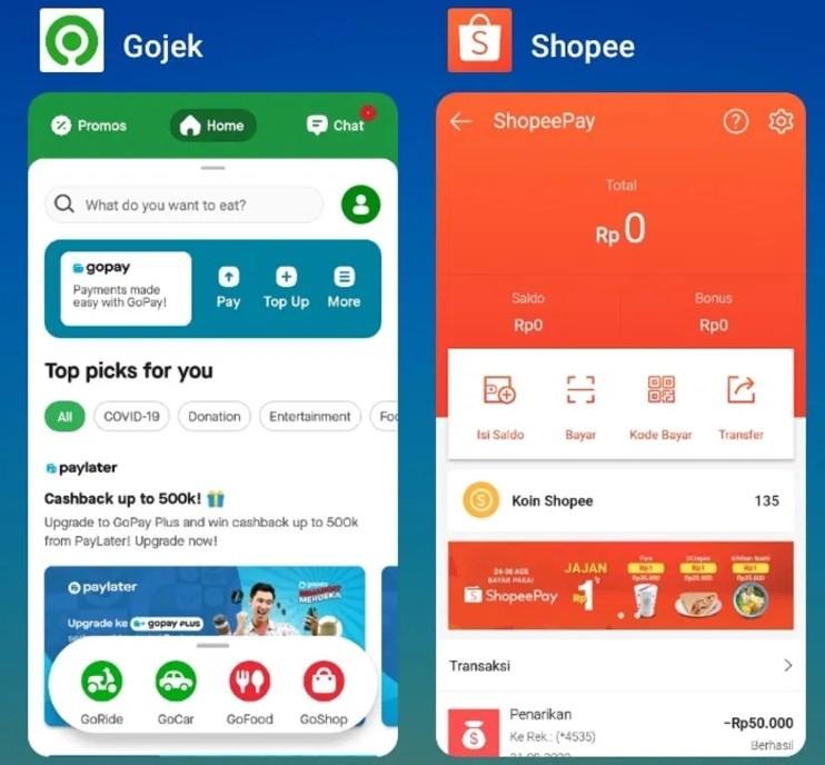 Cara Transfer Gopay ke Shopee Pay