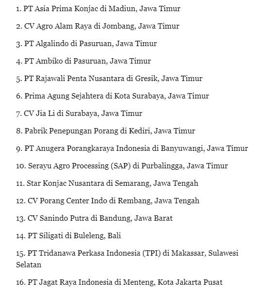 Jual Beli Porang Makassar