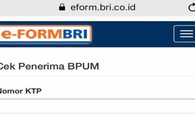 Eform bri co id bpum 2021 online