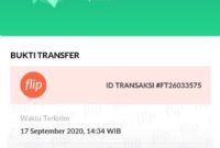 Bukti transfer flip
