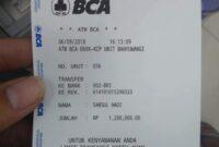 contoh dari bukti transfer BCA