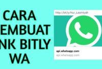 Cara Membuat Link WA di Bitly