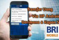 Cara Mentransfer Uang Lewat Hp Bank BRI